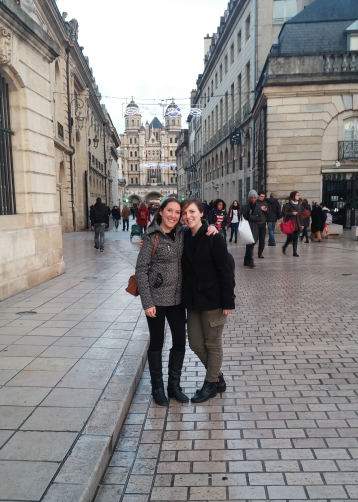 Sophie and me in Dijon